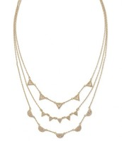 Pave Chevron Necklace Gold ($79) - Sale Price: $39.50