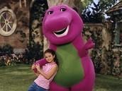 Selena Gomez with Barney !