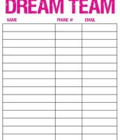 Make your Dream Team list!!!