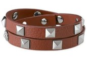 Pyramid Cognac Wrap bracelet