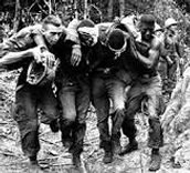 The guys sticking together when one got hurt in battle