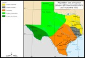 Region of Texas in which they lived in is the coastal plains