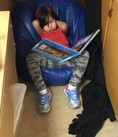 Finding quiet spots to enjoy a book.