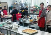 Collegiate Culinary Students hard at work.