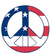 Peace signs are like my symbol and I love The United States of America!