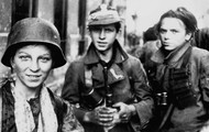 Boys and girls of the Polish Scouts during Warsaw Uprising of 1944