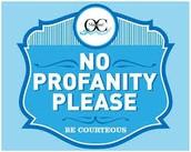 No type of profanity