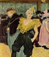 La clownessa Cha-U-Ka-O al Moulin Rouge, Toulouse-Lautrec, 1895,