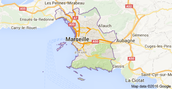 Map of Marseilles