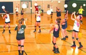 The routine of Volleyball Practice