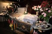Casket burial