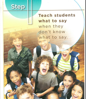 Step1 Teach students what to say when they don't know what to say