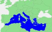 Waar ligt de middellandse zee