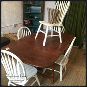 5 White Ladder-Back Chairs: $350