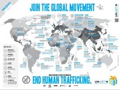 Human trafficking global movement poster