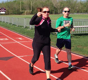 Ringing Rocks Principal, Mrs. Jones, runs for learning