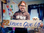 """22 never give up"""