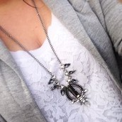 SOLD!!!!Pave Eclipse necklace, was $84, now $35!!