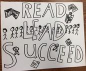 Read, Lead, Succeed!  Winning T-shirt design