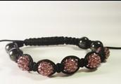 Roze-Zwarte armband