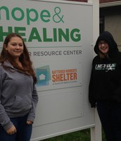 The shelter we donated our stuff to.
