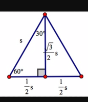 math example in semi equilateral triangle
