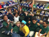Playing with finger puppets during choice time