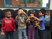 PK3 students share the animal noises you hear in the jungle