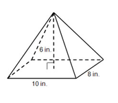 Surface Area of a Pyramid Example