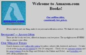 Amazon's Initial Page