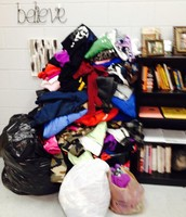 Piles and Piles of donated clothing