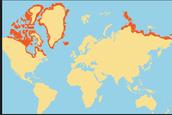 Map of Polar Bear