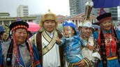 My mum participates Mongolia's costumes' festival.