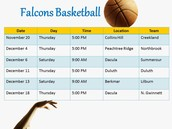 DMS Basketball Schedule