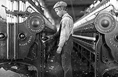 Child working in textile buliding
