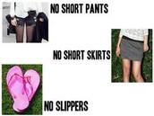 Dress NO NOs