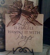 Life is Fragile Tile