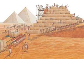 Why were the pyramids built in the shape of a traingle?