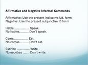 CONJUGATING INFORMAL COMMANDS