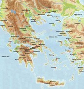 Greece (physical) map
