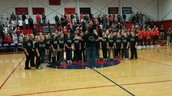 GBE Spartan Chorale Performs the National Anthem at a Boys Basketball Home Game Last Week!