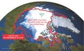 Map of the Polar Ice Caps