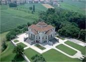 Overhead view of Villa Rotonda