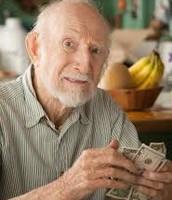 Ebenezer Dorset counting his money.