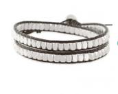 Nugget Wrap Bracelet in Silver