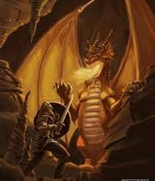 battle between the dragon and beowulf