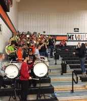 Pep band was rocking at the girls game