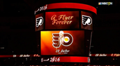 Ed Snider, the Flyers founder, was honored before Game 3 of the Stanley Cup Playoffs against the Washington Capitals. (1933-2016)