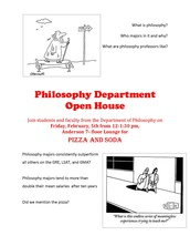 What is an Open House? The Philosophy Dept. is having one!