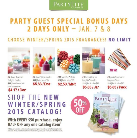 Partylite Winterspring 2015 Launch Smore Newsletters